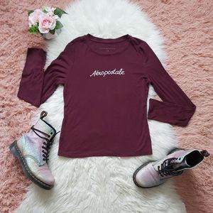 2/$15 Aeropostale Ribbed Jersey Shirt Top